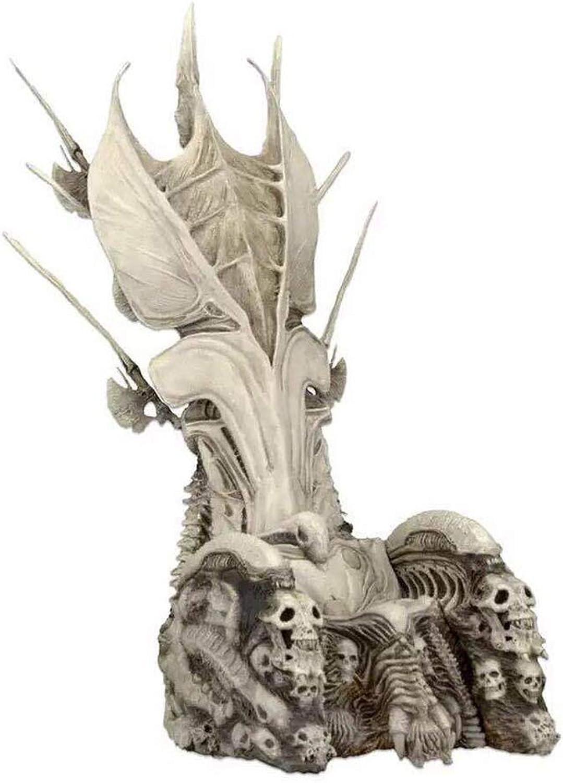 las mejores marcas venden barato Zhizaibide Skull Throne Skull Asiento 7 Pulgadas Universal Altura Completa Completa Completa 14 Pulgadas Escena Decoración Recuerdo Colección de Regalos Artesanía Navidad tamaño  Altura Aproximamujerte 32 cm  para proporcionarle una compra en línea agradable