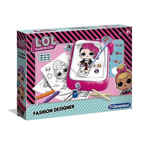 Clementoni - 18559 - Lol - Fashion Designer - Gioco Creativo Bambina Dai 6 Anni In Su - Kit Disegni Lol Da Colorare E Pitturare, Colori Inclusi, Italiano