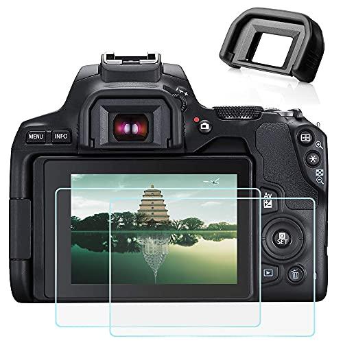 Protector de pantalla SL3 250D y visor EF para cámara Canon EOS 250D Rebel SL3 (2+1 paquetes), Fire Rock Protector de pantalla de vidrio templado ultra claro y visor EF para Canon SL3 250D