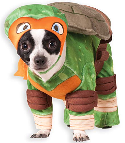 Rubie 's Officiële Michelangelo Teenage Mutant Ninja Turtle Pet Hond Kostuum, Large, wit