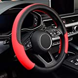 LABBYWAY Microfiber Leather Steering Wheel Cover, Universal Fit...