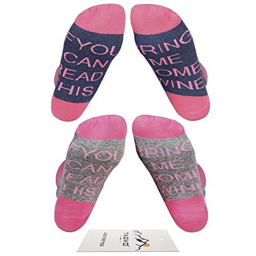 TAGVO Brief bestickte Socken, 2 Paar Winter warme Baumwolle Socken Sport Running Socken mit kreativen Brief IF You CAN Read This für Frauen Männer Erwachsene