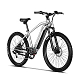VELOWAVE Electric Mountain Bike 500W for Adults with Removable 48V 13Ah Lithium-Ion Battery 27.5 inch E-Bike Silver
