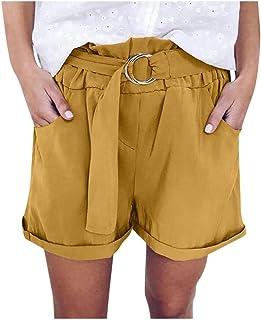 Doufine Women Wide Leg Casual Loose Fashion High Waisted Shorts