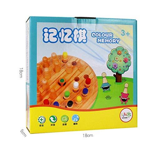Terynbat Partidos de memoria de madera para niños, juegos educativos inteligentes de lógica y desafíos cerebrales, educación de la primera infancia, reuniones familiares, regalos de ocio