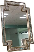 YUNTAO Simple Bright Mirror Makeup Mirror Decorative Hanging Wall Vanity Mirror for Bedroom, Environmental Protection MDF ...