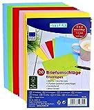 120 (6x 20) farbige Briefumschläge Din C6 bunte Kuvert (100 + 20 Stück C6 Bonuspack, sortiert)