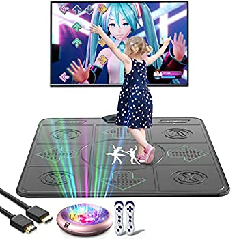 FWFX Dance Mat Games for Kids and Adults,Non-Slip Massage Dance Pad,Musical Electronic Dance Mat HD Camera Game Multi-Function Host,Solo User Dance Mat with Wireless Handle HDMI Interface for TV