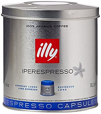2 x TIN of 21 ILLY IPERESPRESSO Coffee Capsules Lungo Blue