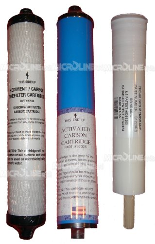 Microline TFC Set of 3 Filters 50 gpd by Microline