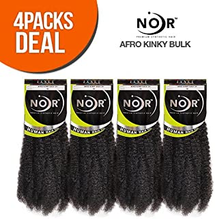 Janet Collection Synthetic Noir 2X Afro Kinky Bulk 24 (4-Pack, 1)