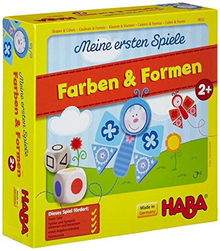 Haba 4652 – kleuren & vormen, eerste speelcollectie voor kinderen vanaf 2 jaar, kubus-, legen- en toewijzingsspel met bonte bloemen- en vlindermotieven