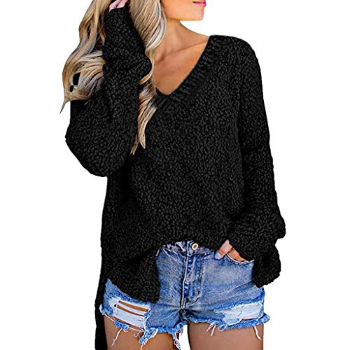 Review Of Women Turtleneck Pullover Sweaters Plus Size Long Sleeve Knit Pullover Sweater Tops Black ...