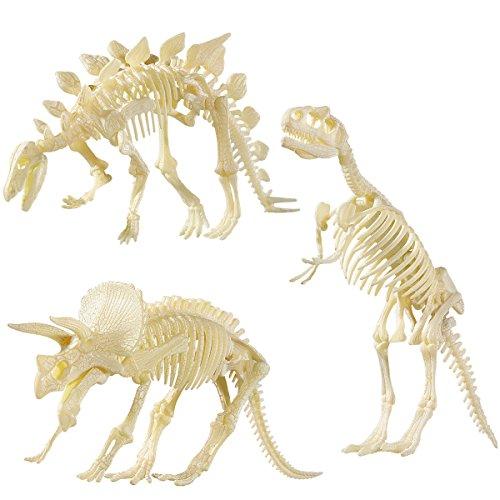 NUOLUX NUOLUX 4D Dinosaurier Fossil Skeleton Sortiert Dinosaurier Spielzeug DIY 3 Stücke Dino Knochen Fossilien Für Kinder Jungen Mädchen