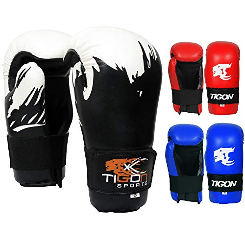Guantes de Punto de Contacto para Boxeo, Muay Thai, Kick Karate, MMA, Taekwondo, Karate, Color Negro, tamaño Large