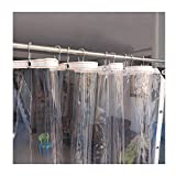 YJFENG Lona Impermeable, Transparente Cloruro De Polivinilo Lona Panel Lateral Cortinas con Ojales, 0,3 Mm Manteles Planta Cubiertas De Hojas para Pérgola Ventana Terraza Impermeable