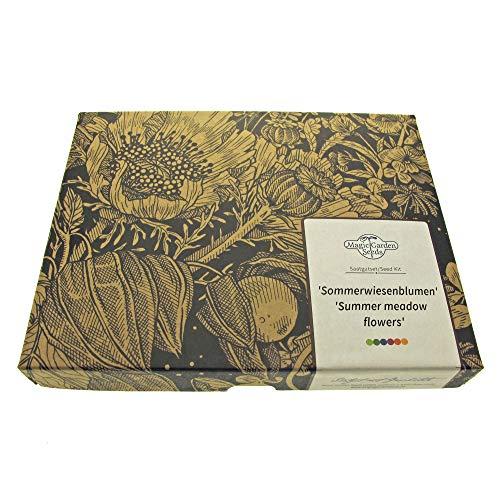 Sommerwiesenblumen - Samen-Geschenkset mit 5 farbenfrohen Sorten für eine bunte Blumenwiese