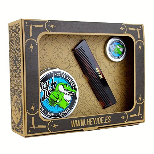 Hey Joe – pomade Survival Kit Super Strong | Kit Pomada Extra Fort contenant la Pomada 100 ml, 15 ml. et notre Peigne de poche fait main
