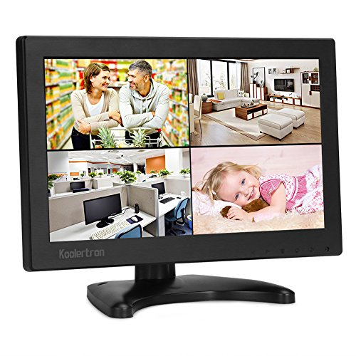 10.1 Zoll Monitor 1280 * 800 IPS Tragbarer LCD HD Bildschirm Monitor mit VGA HDMI Audio Ports für DSLR, Haus Sicherheit, CCTV Kamera, PC Monitor