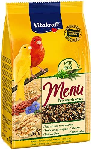 Vitakraft Menu Canaris – Alimentación Premium para pájaros – Bolsa Fresca de 900 g