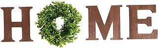 FLAMEER Amour Bois Maison Inscrivez Décor, Maison en Bois Lettres avec Artificielle Eucalyptus Guirlande Décorative pour S...