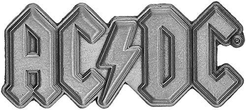 AC/DC Metal Logo Unisex Spilla grigio lega di zinco