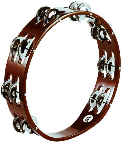 Meinl Percussion TA2AB Holztamburin mit Stahlschellen (2-reihig), 25,40 cm (10 Zoll) Durchmesser, african brown
