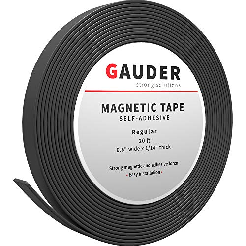 GAUDER Nastro Magnetico Autoadesivo | Banda Magnetica Adesiva | Striscia Calamita