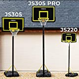 FORZA Adjustable Basketball Hoop and Stand System | 3 Sizes | Optional Accessories (JS220, Post, Basketball & Pump)