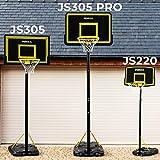 FORZA Canasta Baloncesto con Poste Ajustable, Tablero & Aro – Balón & Bomba de Aire Opcionales (3 Tamaños) (JS305, Poste)