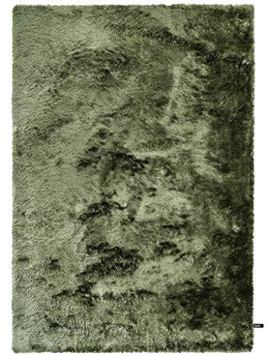 benuta Shaggy Hochflor Whisper Grün 80x150 cm | Langflor Teppich für Schlafzimmer und Wohnzimmer Tapis, Fibres synthétiques, Vert