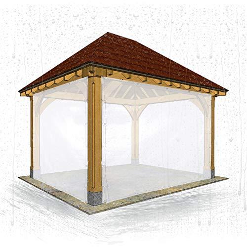 Lona MYAN Impermeable, Toldo Transparente Tarea Pesada PVC Anticongelante Lluvia Y A Prueba De Polvo Cubrir por Aislamiento Cámping Invernadero (Color : Clear, Size : 2M X 2M)