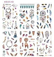6ピース/パック奇跡的な羽装飾文房具ステッカースクラップブッキングDIY日記アルバムスティックラベル