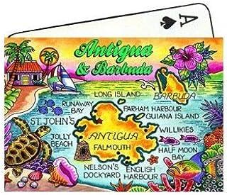 Antigua & Barbuda Map Collectible Souvenir Playing Cards