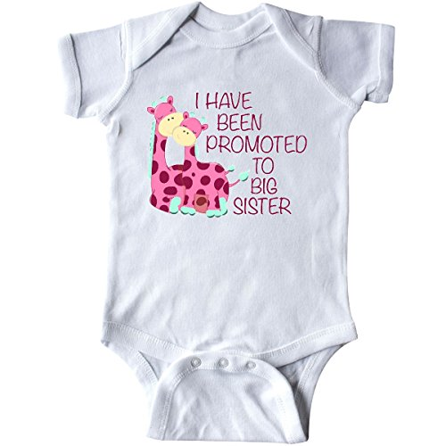 inktastic I Have Been Promoted to Big Sister Pink Infant Creeper 12 Months White