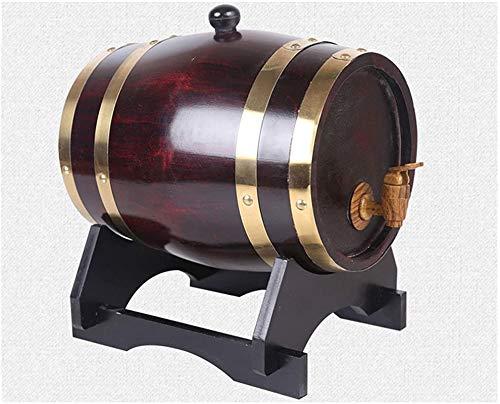 Barril de Madera, Roble Barrel, Roble envejeciendo barril 10L, dispensador de agua de whisky, adecuado para decorar barras, hogar, decoraciones de escena de boda (con grifo) vino, cerveza, sidra, whis