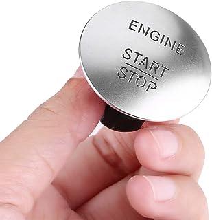 Auto Zündschalter   Keyless Start Stop Push Button Motor Zündschalter Kompatibel mit Mercedes 2215450714 Silber