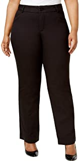 Womens Plus Monaco Eased Fit No Gap Dress Pants Black 20WP