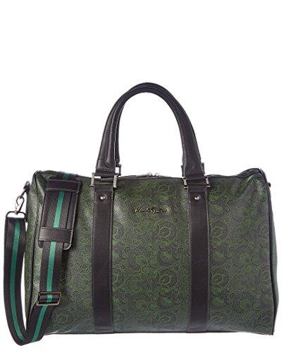Robert Graham Mens Ausable Faux Leather Printed Duffle Bag