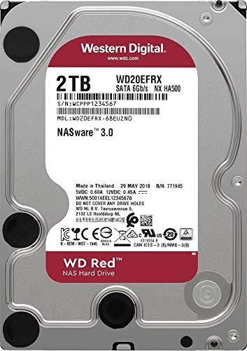 Western Digital WD20EFAX Interne Festplatte 8.9cm (3.5 Zoll) 2TB Red Bulk SATA III