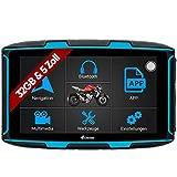 Elebest Navigationsgerät Rider A6 Pro, Navigation für Motorrad und PKW, 5 Zoll Bildschirm Android 6.0 - Bluetooth W-LAN Wasserdicht 32 GB Speicher Freisprecheinrichtung Fahrspurassistent Radarwarner