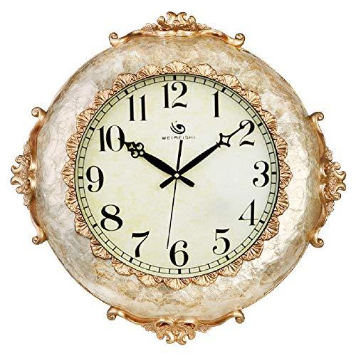 Ayanx Quartz-klokken Europese stijl Wandklokken Stil Modern Minimalistisch Creatieve klokken Sfeervolle Woonkamer Decoratieve horloges 20 inch / 50 cm