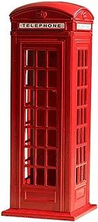 Toyvian 7'' London Telephone Booth Coin Bank Money Storage Box