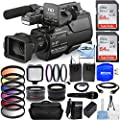 Sony HXR-MC2500E Shoulder Mount AVCHD Camcorder (PAL) All You Need Bundle with Battery and Charger, 2X 64GB (128GB) SD, Mic Set, Telephoto and Wide Angle Lens, Gadget Bag, HDMI Cable and More from Pixel Hub
