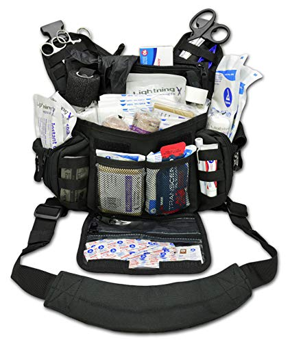 Lightning X Stocked First Aid Trauma Tactical Sling Pack First Responder Gear Bag Medic Kit