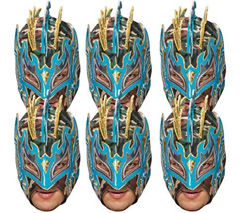 Star Cutouts Ltd SMP419 WWE Wrestling Masken Spaß für Familie, Freunde und Fans, Kalisto 6er Pack