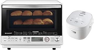 【セット買い】シャープ 過熱水蒸気 オーブンレンジ 2段調理 31L ホワイト RE-SS10-XW & パン調理機能付 ジャー炊飯器 3合炊き ホワイト KS-CF05A-W