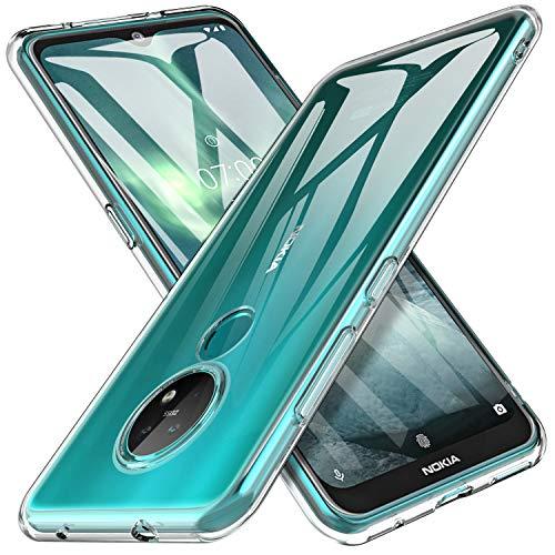 iBetter für Nokia 7.2 Hülle, Nokia 6.2 Hülle, Soft TPU Superdünn Cover [Slim-Fit] [Anti-Scratch] [Shock Absorption] passt für Nokia 7.2 Smartphone,klar