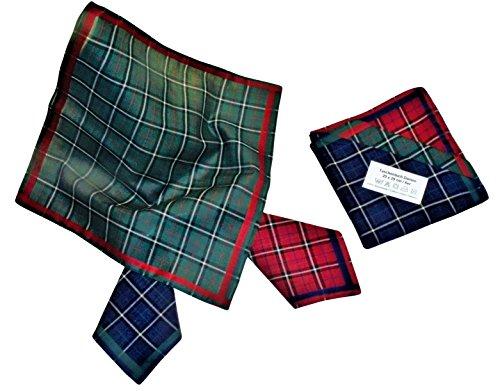 Teichmann Damen Stofftaschentuch Kariert I Stoff-Taschentücher mit Schotten-Karo I Klassiker I 6-er Pack I 100% Baumwolle I 30 x 30 cm