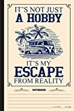 Its Not Just A Hobby Its My Escape From Reality Notebook: A Notebook, Journal Or Diary For Camper, Camping Lover - 6 x 9 inches, College Ruled Lined Paper, 120 Pages